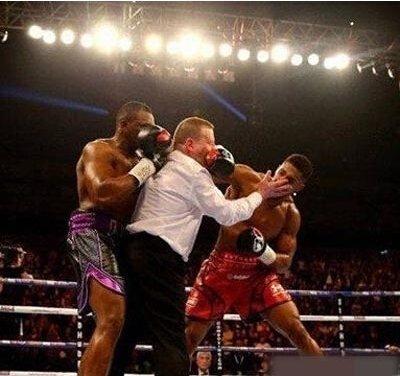做拳击裁判真不容易啊 爆笑图片-第1张