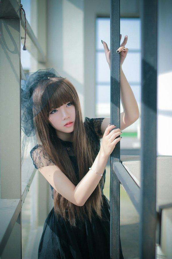 清纯美女黑丝婚纱写真唯美迷人 美女写真-第1张