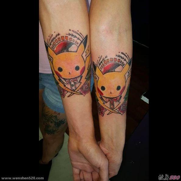 超可爱的口袋妖怪纹身图案图片 纹身图片-第1张